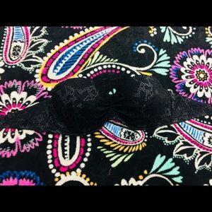 VS Black lace strapless swim top